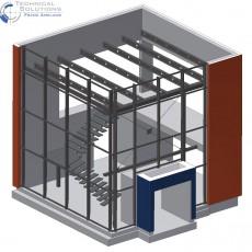 Stahlkonstruktion Foyer ● MAW – Stahlbau Eulberg GmbH & Co. KG