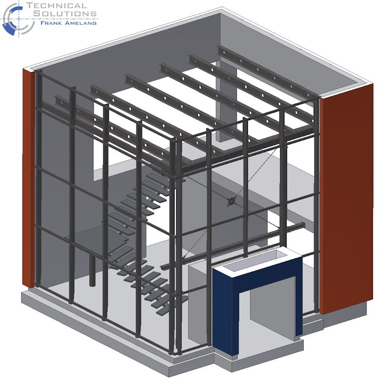Stahlkonstruktion Foyer ● MAW - Stahlbau Eulberg GmbH & Co. KG