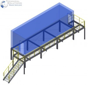 Stahlkonstruktion für Container ● Kann Baustoffwerk - Pulheim