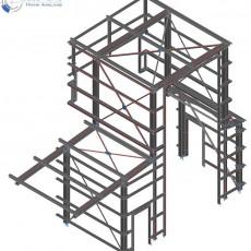 Stahlbau Wetterschutz Annahmestation ● Dyckerhoff GmbH – Werk Göllheim