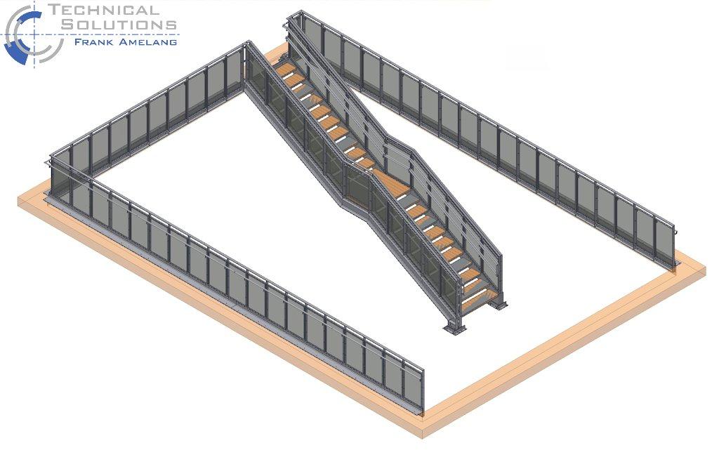 br stungsgel nder mit geschosstreppe neubau kita max. Black Bedroom Furniture Sets. Home Design Ideas