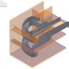 Wendeltreppen- und Geländerkonstruktion ● Medienschiff Weiterstadt