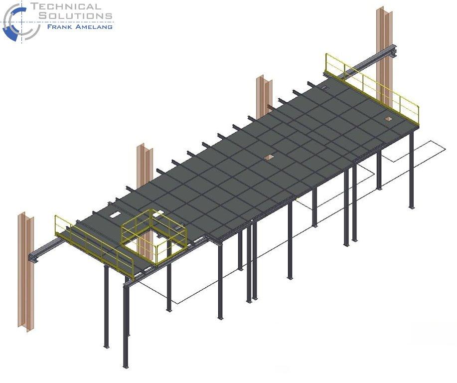Stahlbühnenkonstruktion ● Saint-Gobain Oberland AG - Essen