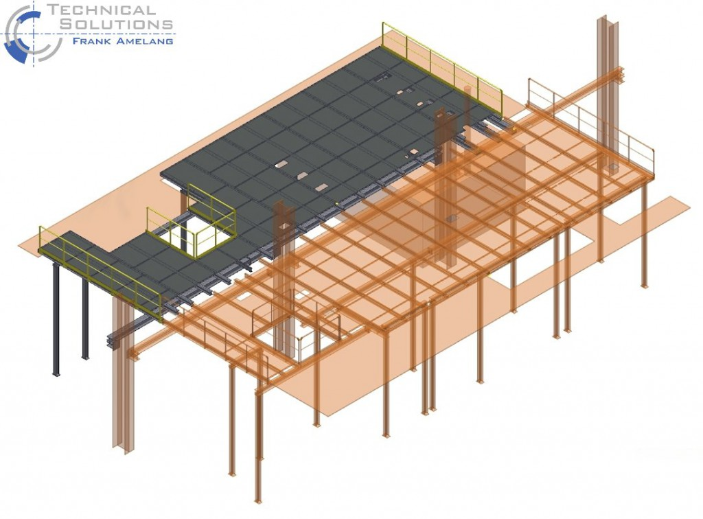 Stahlbühnenkonstruktion ● Saint-Gobain Oberlang AG - Essen