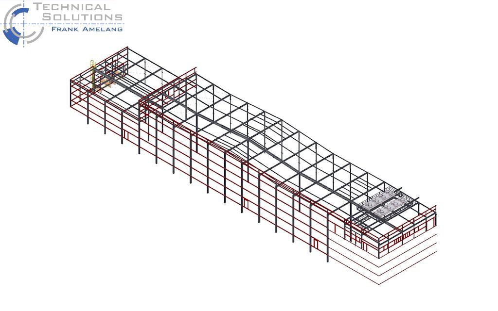 Stahlhallenkonstruktion ● Penny-Markt GmbH - Roßbach 1/3