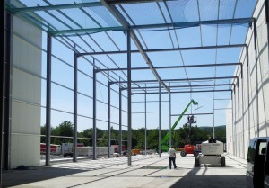 Stahlhallenkonstruktion ● Penny-Markt GmbH - Roßbach