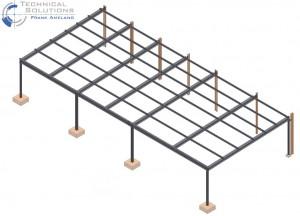 Stahlvordachkonstruktion ● Dyckerhoff AG - Neuwied