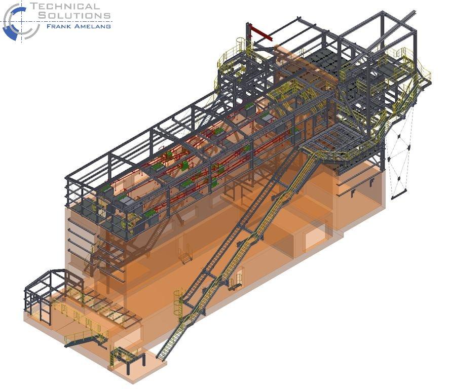 Stahlbaukonstruktion Fluffhalle ● Dyckerhoff AG - Werk Göllheim 1/10