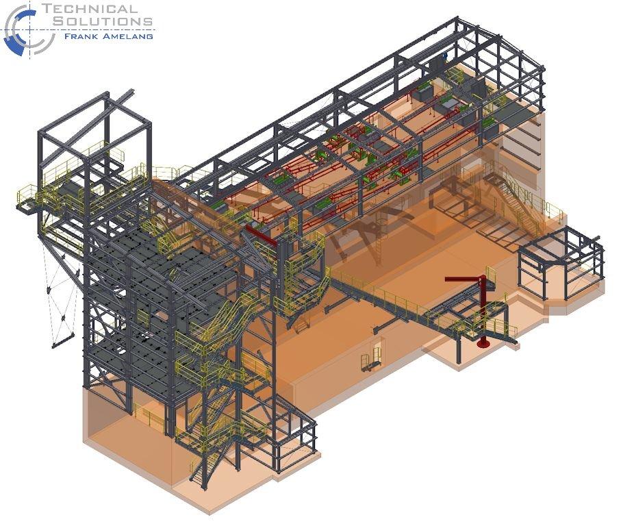 Stahlbaukonstruktion Fluffhalle ● Dyckerhoff AG - Werk Göllheim 2/10