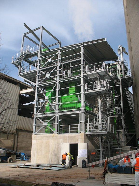 Stahlbaukonstruktion Fluffhalle ● Dyckerhoff AG - Werk Göllheim 6/10
