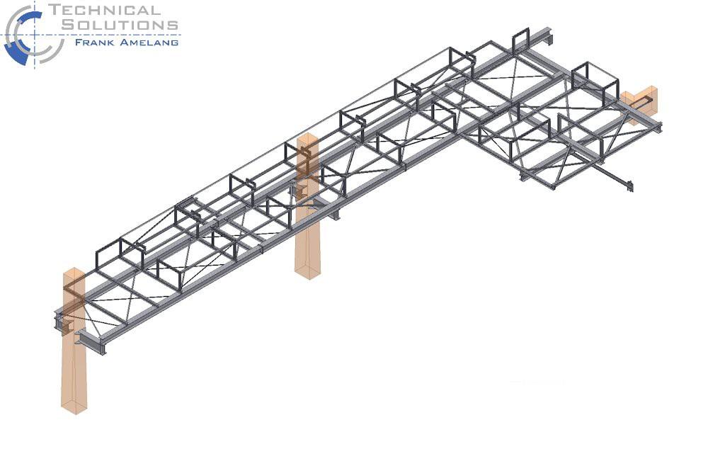Neubau einer Stahlrohrbrücke ● Modernisierung MHKW - Leverkusen