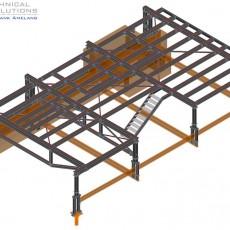 Stahlkonstruktion Dachbühne ● InfraServ Technik GmbH – Wiesbaden