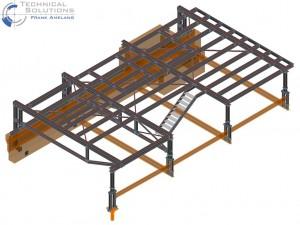 Stahlkonstruktion Dachbühne ● InfraServ Technik GmbH - Wiesbaden