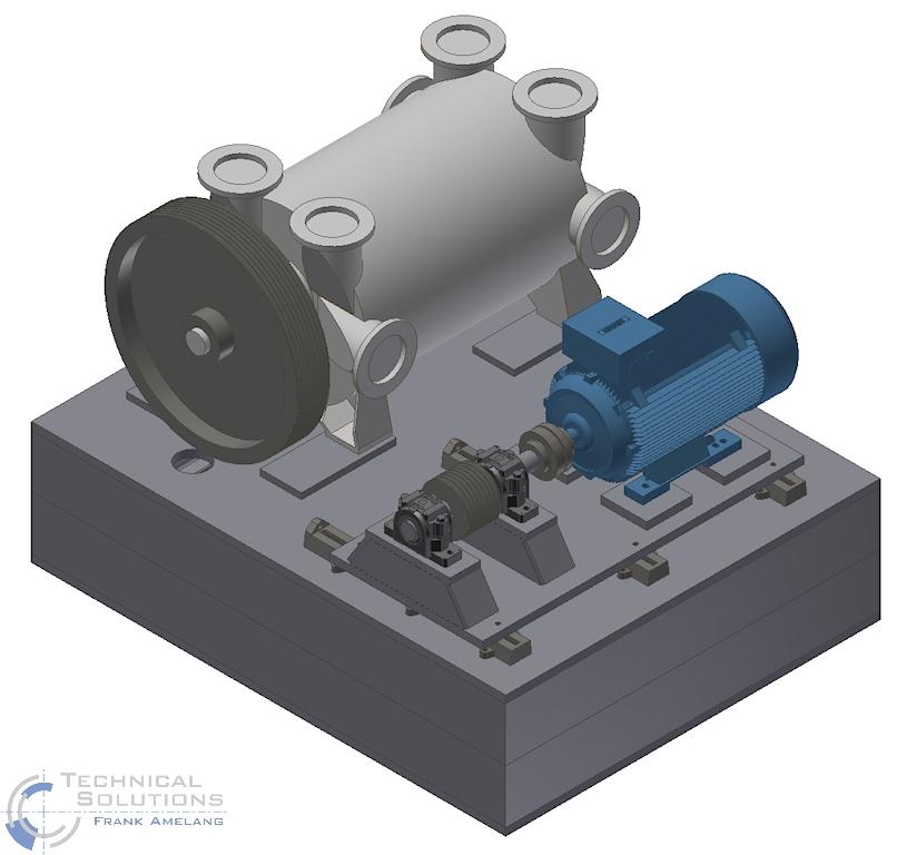 Anlagenkonstruktion Vakuumpumpe ● Tecnokarton GmbH & Co. KG - Mayen