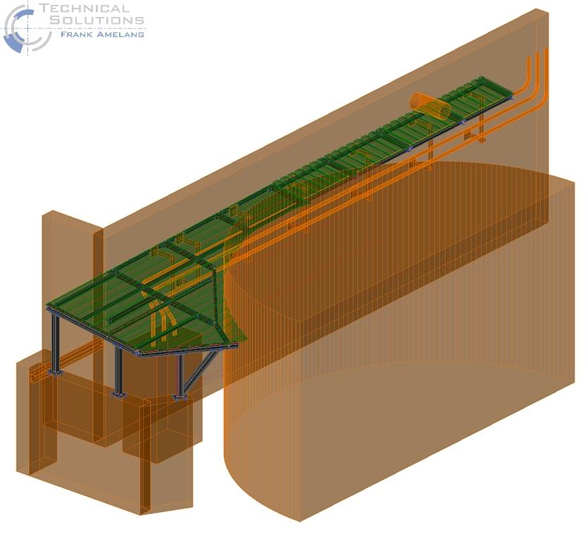 Überdachung Stromschienentrasse ● Tecnokarton GmbH & Co. KG – Mayen