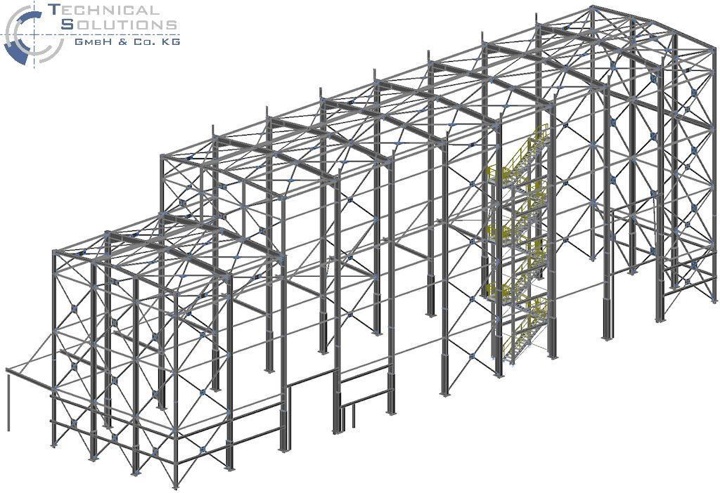 Hallenkonstruktion mit Treppenturmanlage ● Alois Korzilius Interbau GmbH & Co. KG - Ransbach-Baumbach 1/4