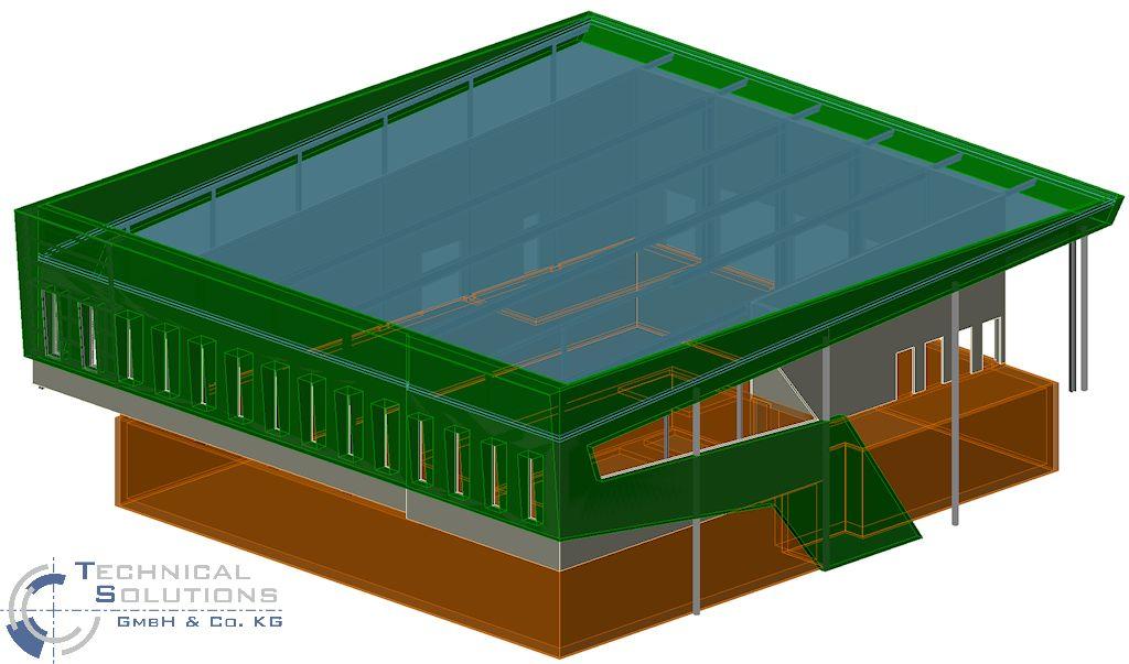 Visualisierung des Neubaus eines Produktionsgebäudes ● EnviroFALK GmbH - Westerburg