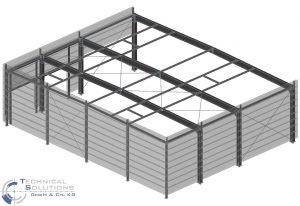 Erweiterung Stahlkonstruktion Werk Baal ● Semperit Profiles Leeser GmbH & Co. KG - Hückelhoven
