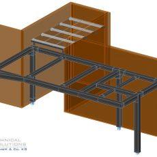 Stahlunterkonstruktion Neubau Warte ● Tecnokarton GmbH & Co. KG – Mayen
