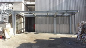Stahlunterkonstruktion Neubau Warte Aufbereitung KM6 ● Tecnokarton GmbH & Co. KG - Mayen 2/4