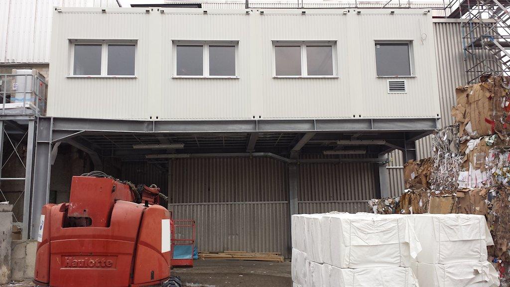 Stahlunterkonstruktion Neubau Warte Aufbereitung KM6 ● Tecnokarton GmbH & Co. KG - Mayen 3/4