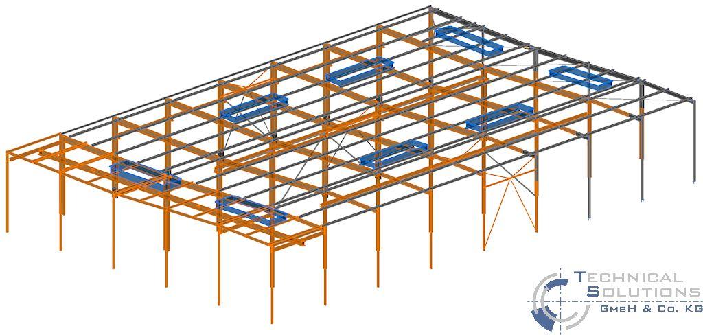 Erneuerung Dachkonstruktion, Erhöhung Treppenhaus und Unterkonstruktion Lüftungsgerät Aufbereitung KM6 ● Tecnokarton GmbH & Co. KG - Mayen 1/3