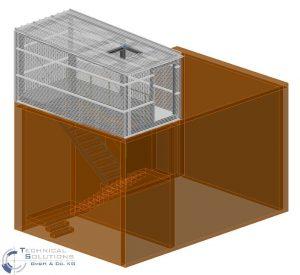Erneuerung Dachkonstruktion, Erhöhung Treppenhaus und Unterkonstruktion Lüftungsgerät Aufbereitung KM6 ● Tecnokarton GmbH & Co. KG - Mayen 2/3