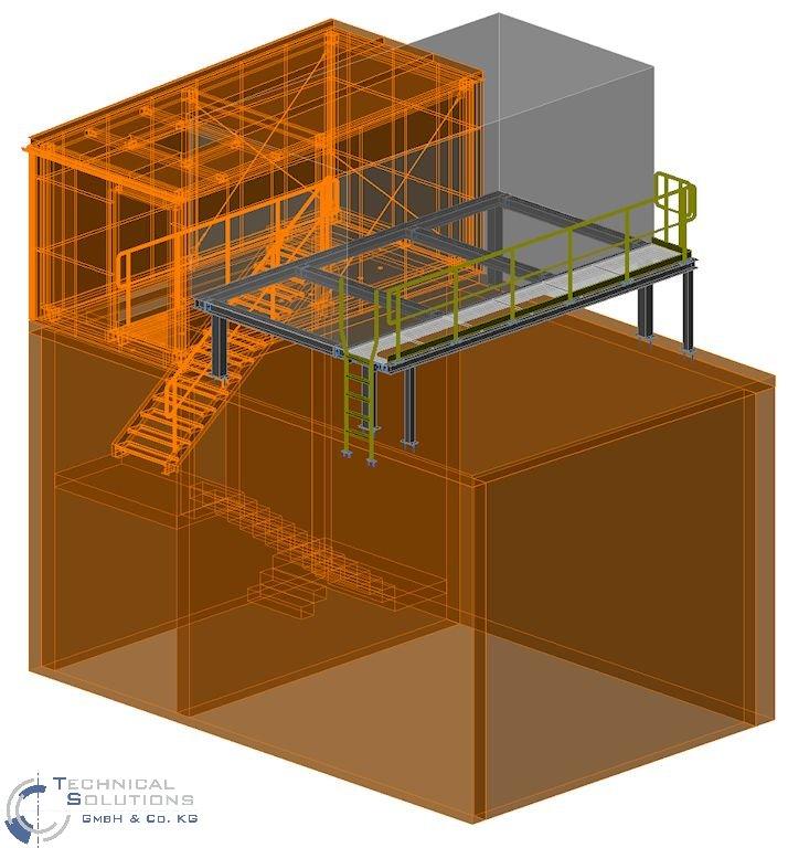 Erneuerung Dachkonstruktion, Erhöhung Treppenhaus und Unterkonstruktion Lüftungsgerät Aufbereitung KM6 ● Tecnokarton GmbH & Co. KG - Mayen 3/3