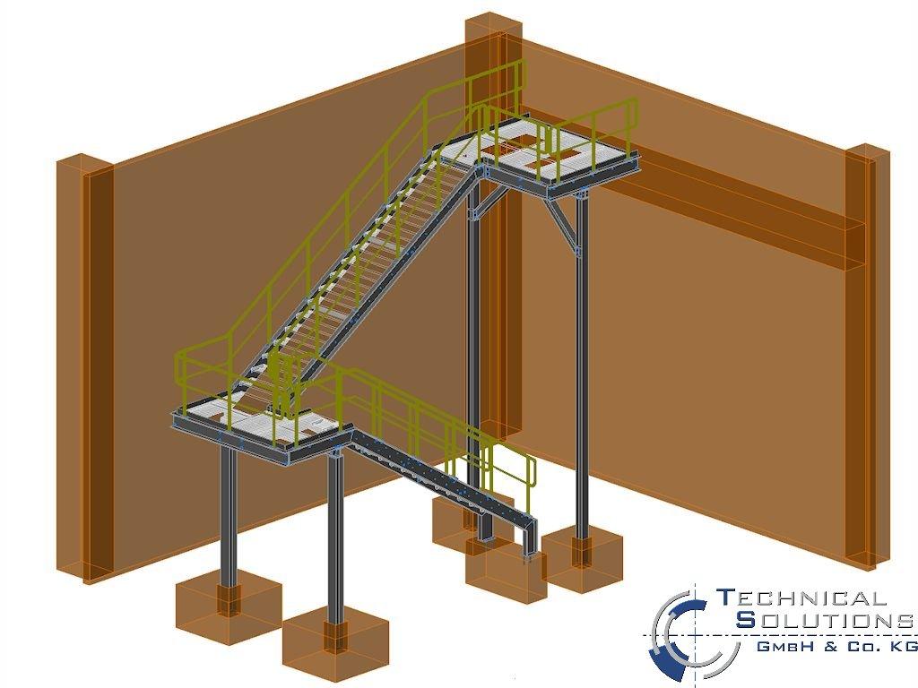 Außentreppenanlage ● Kautex Maschinenbau GmbH - Bonn 1/2