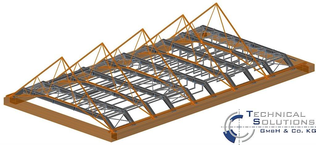 Einbau Stahlbau Gebäude H - Fachhochschule Trier ● LBB - Niederlassung Trier 1/2