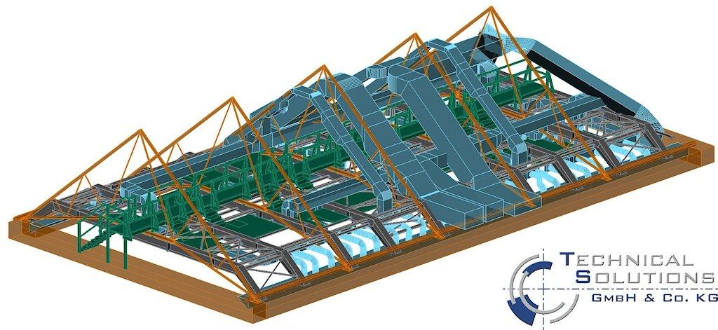Einbau Stahlbau Gebäude H - Fachhochschule Trier ● LBB - Niederlassung Trier 2/2