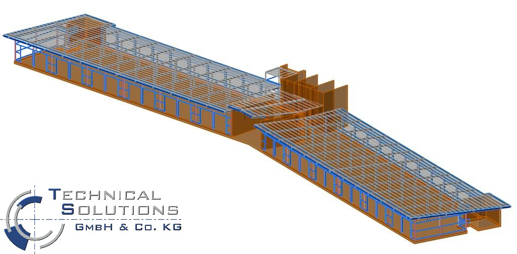 Stahlkonstruktion Aufstockung 5. OG ● Katholische Kliniken Oberberg gGmbH - Engelskirchen
