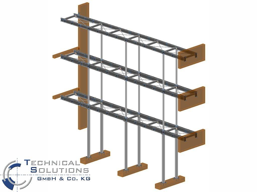 Brückenkonstruktion ● Kirnbachschule - Niefern-Öschelbronn