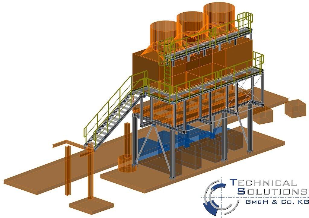 Bühnenkonstruktion Kühltürme NKB ● Moritz J. Weig GmbH & Co. KG - Mayen