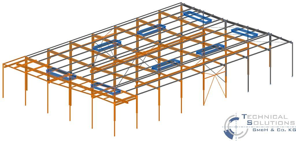 Erneuerung Dachkonstruktion, Erhöhung Treppenhaus und Unterkonstruktion Lüftungsgerät Aufbereitung KM6 ● Tecnokarton GmbH & Co. KG - Mayen 1/5