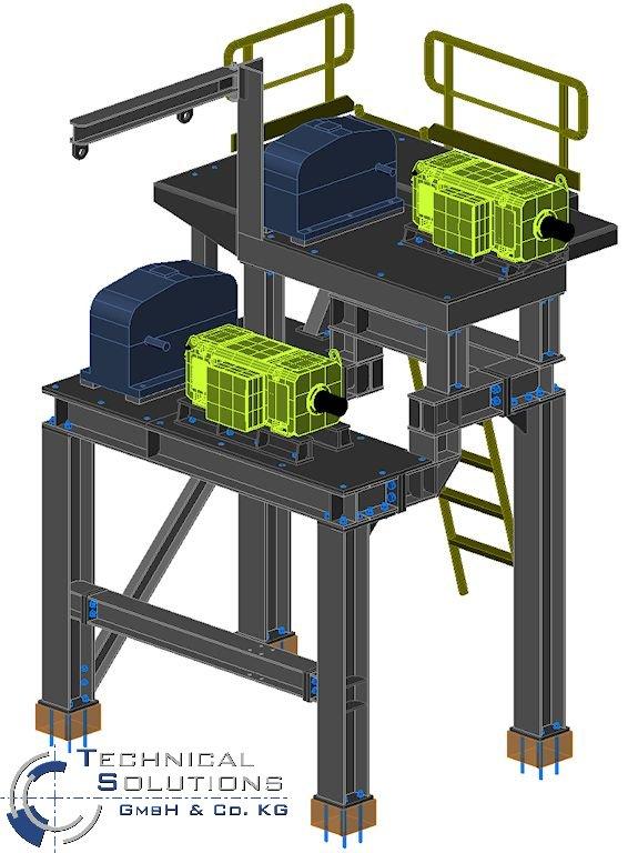 Stahlkonstruktion Antrieb Saugwendewalze ● Moritz J. Weig GmbH & Co. KG - Mayen 1/3