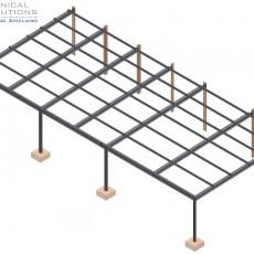 Stahlvordachkonstruktion ● Dyckerhoff AG – Neuwied