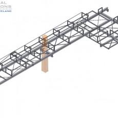 Neubau einer Stahlrohrbrücke ● Modernisierung MHKW – Leverkusen