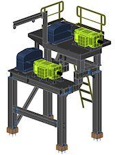 Stahlkonstruktion Antrieb Saugwendewalze ● Moritz J. Weig GmbH & Co. KG – Mayen